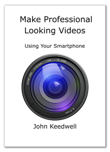 make professional looking video with smartphone - book cover