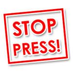 Stop Press sign